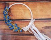 STEFANA Wedding Crowns- Orthodox Stefana - Bridal Crowns RODOULA BLUE - One Pair