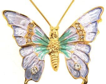 Light Lavender BUtterfly Pin Brooch 1004432