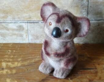 Vintage Felted Koala Bear Bank 1950s or 60s