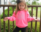 Childrens Youth Monogram Sweatshirt, Crew Neck Sweatshirt, Toddler Sweatshirt