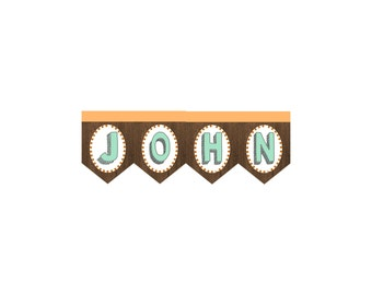 Woodland Animal Forest Campfire Birthday Custom Name Add On For Banner