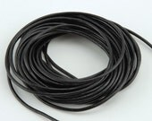 Black Leather Cord - 5 yards
