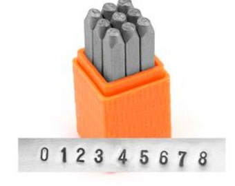 Metal Stamp Set-2.5mm Economy Impressart Number Set -Metal Stamp Set-Great Inexpensive Tool for Your Shop and Stamping Needs