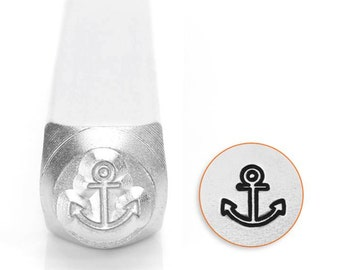 Metal Stamp-Anchor Metal Design Stamp ImpressArt- 6mm Metal Stamping Tool-Steel Stamps-Metal Supply Chick