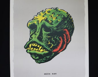 Famous Monsters Moon Man poster pure 60's horror