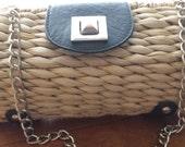 woven wicker purse
