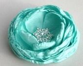 Mint Green Flower Hair Clip, Green Wedding Hair Accessory, Flower Hair Clip, Flower Hair Piece, Flower Girl Hair, Bridesmaid Accessory