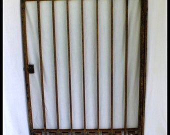 Original Art Deco Wrought Iron Window Grill Security Gate