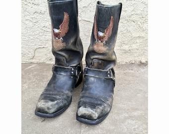 Harley Davidson Motorcycle Eagle boots - size 10