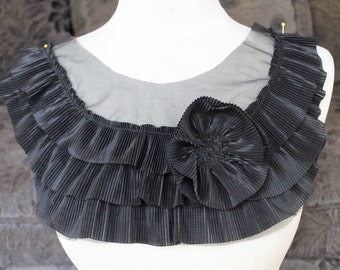 Nice ruffled  applique yoke black  color 1 pieces listing