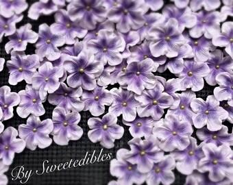 Gumpaste Cake Decorations Light Purple Gum Paste Flowers 25 piece set