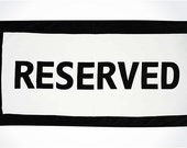 Reserved for Deborah
