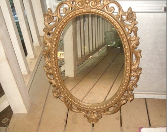 Baroque mirror on etsy a global handmade and vintage for Plastic baroque mirror