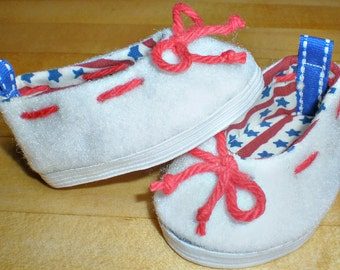 WHITE DECK SHOE 18 inch doll clothes