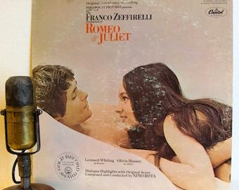 "ON SALE Romeo and Juliet Vintage Vinyl 1960s Stage and Screen MOVIE Soundtrack Teenage Love Romance Romantic Nino Rota""Romeo & Juliet""(1968"