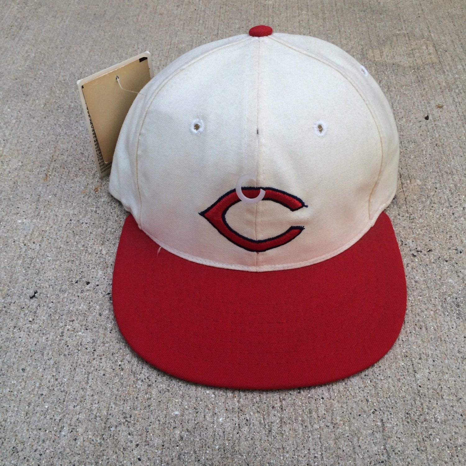 Vintage Cincinnati Reds 1957 1958 Fitted Mlb Baseball Cap
