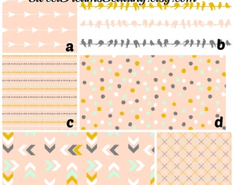 Custom Crib Bedding You Design   Blush Birds