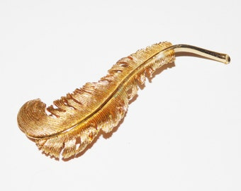 Vintage Coro Feather Brooch or Pin
