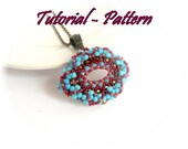 Beading pattern of beaded pendant Effi - PDF instructions, step by step