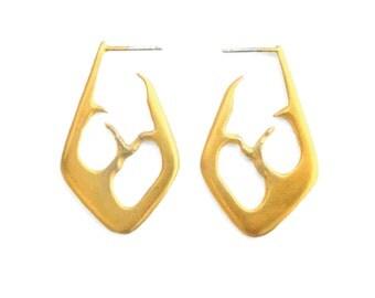 Gold Space Between Earrings