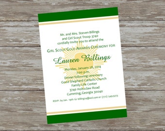 Girl Scout Gold Award Invitations #3