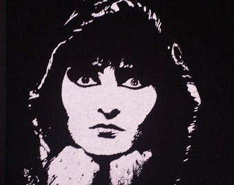Siouxsie & the Banshees pop art goth deathrock icon patch