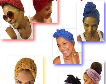 Crochet Head Wrap & Turban Pattern COLLECTION - Crochet Turban - Crochet Hair Wrap - Crochet Bandanna  Summer Crochet - Crochet E-book