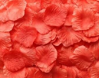 Silk Rose Petals Salmon 500 Wedding Decoration Flower Girl Reception Table