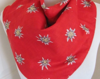 """Lot of 2 Beautiful Blue and Red Ladies Cotton Scarf Scarves - 20"""" X 20"""" Square"""