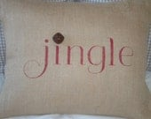 Jingle Bells Pillow Cover - Ready to ship