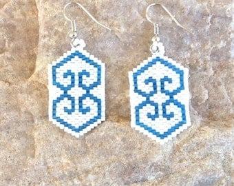 Two Hearts Beaded Earrings