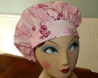 Pampered Girls   Banded Bouffant Surgical Cap by Nurseheadwear
