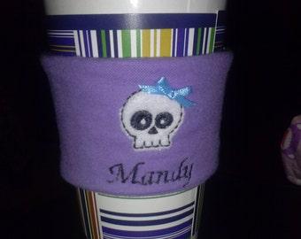 coffee sleeve cozy skull
