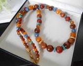 Liz Claiborne Multi Colored Fashion Necklace, Vintage