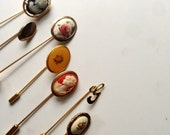 Seven Vintage Hat Pins
