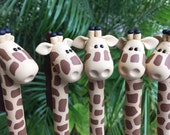 Polymer Clay Giraffe Ballpoint Pen
