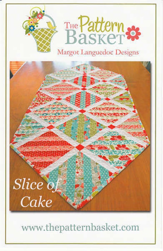 Basket Weave Table Runner Pattern : Slice of cake quilted table runner pattern fromthe