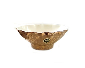 American Bisque Co. Sequoia 22K Weeping Gold Bowl
