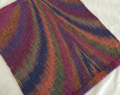 Side Table Runner, Hand Woven Centerpiece, Short Square Housewarming Gift