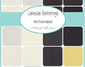 """ON SALE Lakeside Gatherings Moda Quilt Fabric Charm Pack 42 squares 5""""x 5"""""""