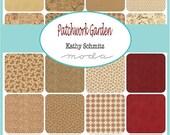 "ON SALE Patchwork Garden Kathy Schmitz Moda Quilt Fabric Moda Charm Pack 42 squares 5"""