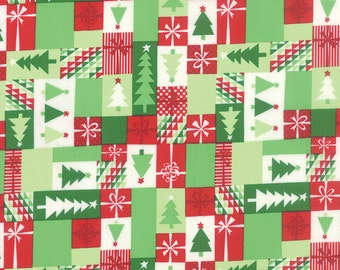 Jingle Patchwork Crimson Christmas Kate Spain  Moda Quilt Fabric by the 1/2 yard