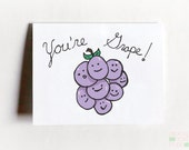 You're Grape Funny Friendship Card
