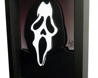 Scream Movie Poster 3D Art Pop Artwork Ghostface Horror Art