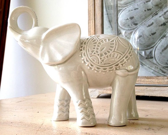 elephant elephant decor elephant figurine bohemian by