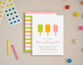Summertime Fun Invitations - Choose Your Colors