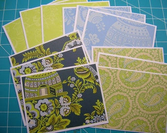 Amy Butler Notecards - Set of 12 - Blank Inside -Thank You, Gift Cards