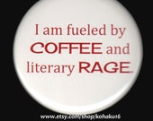 Angry Coffee Literary Button