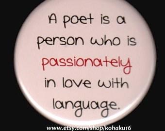 Passionate Poet Button