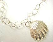 Sterling Silver Sunrise Shell Bracelet, Sunrise Shell Bracelet, Shell Jewelry, Gift for Ocean Lover, Beach Jewelry, Surfer Gift